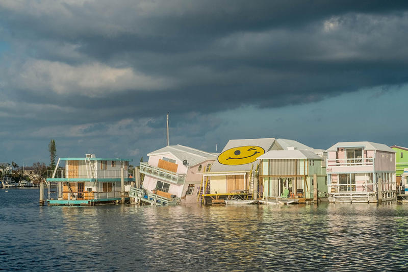 The Key West city marina after Irma.