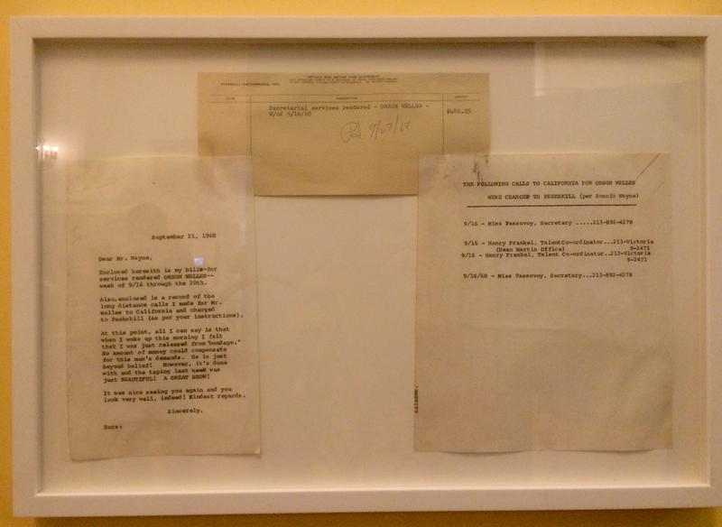 "After completing a week of stenography work for Orson Welles, Williams wrote to his secretary that she felt she'd been ""released from bondage."" (On display at the Jewish Museum of Florida)"
