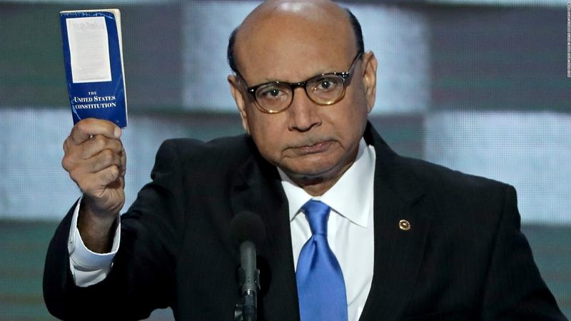 Khan during his speech at the DNC.