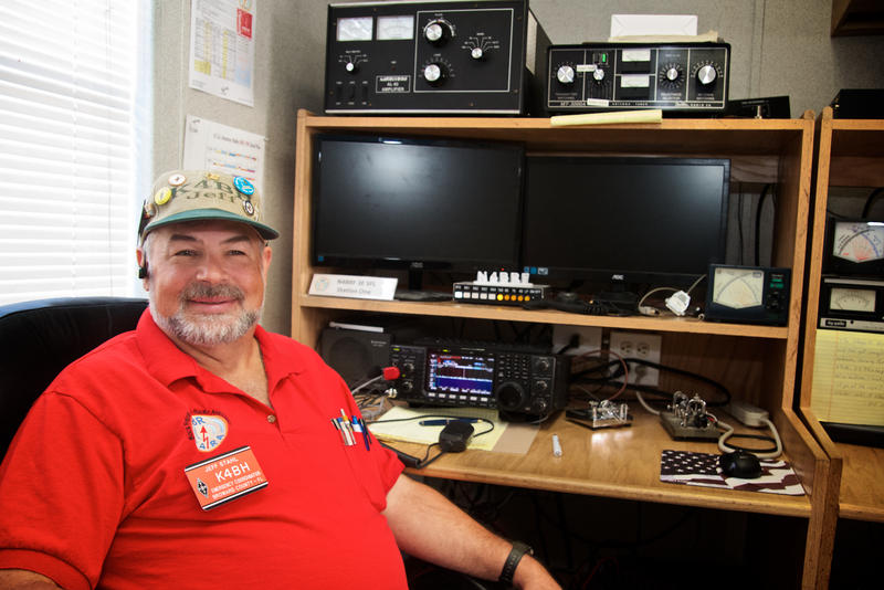 "Broward County Emergency Coordinator Jeff Stahl, of Parkland, has been operating ameteur radios for 47 years. ""Even though we're called amateur radio,"" Stahl said, ""our communications are professional when we're serving the public."""