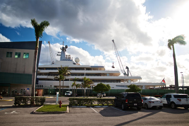 Russian businessman Roman Abramovich'syachtEclipse will be in the Port of Palm Beach for the next two weeks.
