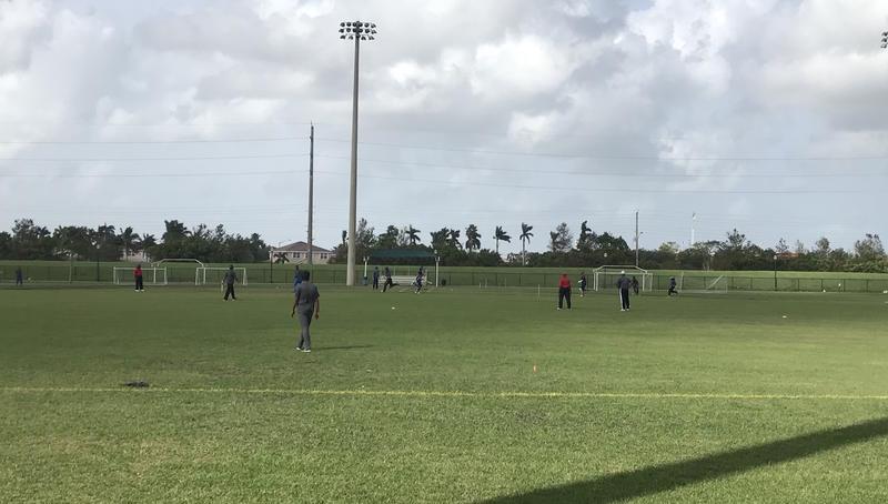 cricket match from afar