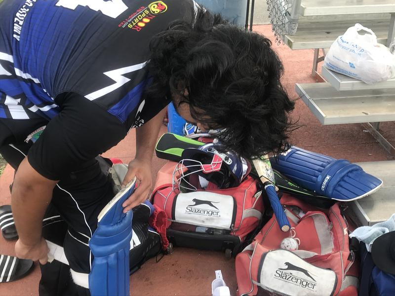 cricket player takes off gear