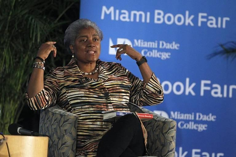 Donna Brazile discussed her new book with Ana Navarro during an event at the Miami Book Fair last week.