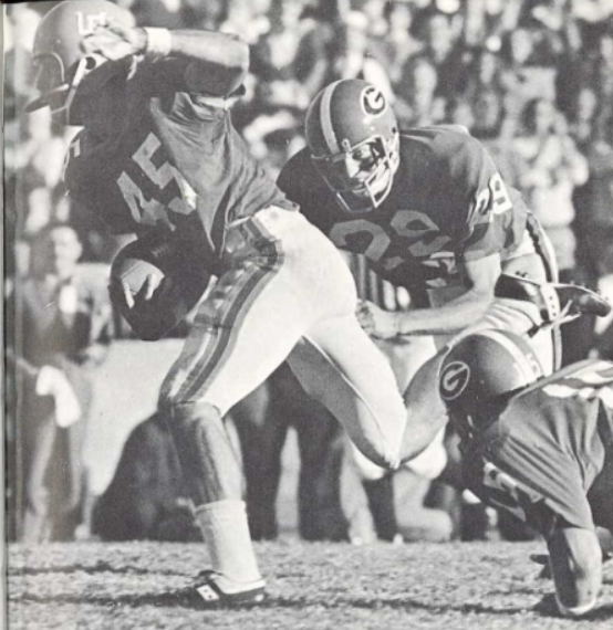 Alvarez playing against the University of Georgia in November 1970.