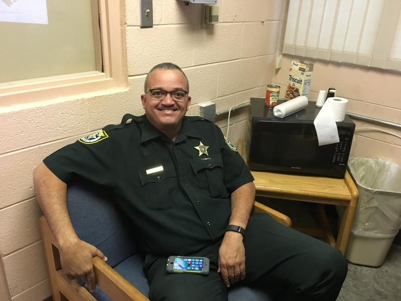 Graeme MacDonald works at the Monroe County jail in Key West, but lives in Broward County. So he stays at a bunkroom in the jail between shifts.