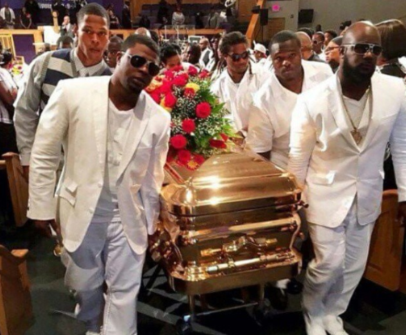David Queen's friends carry his casket. He was killed at his Tallahassee apartment complex in 2015. The man who killed him was found not guilty.