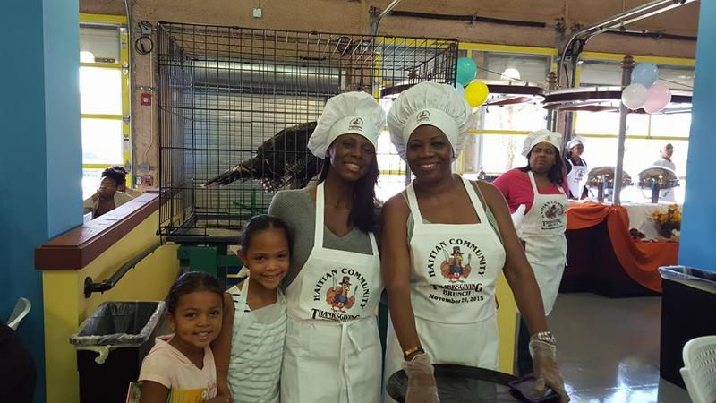 Volunteers at the 2015 Haitian Community Thanksgiving Brunch.
