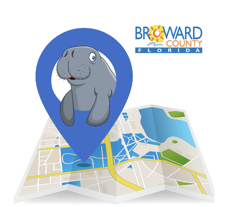The opening page for the I Spy A Manatee App