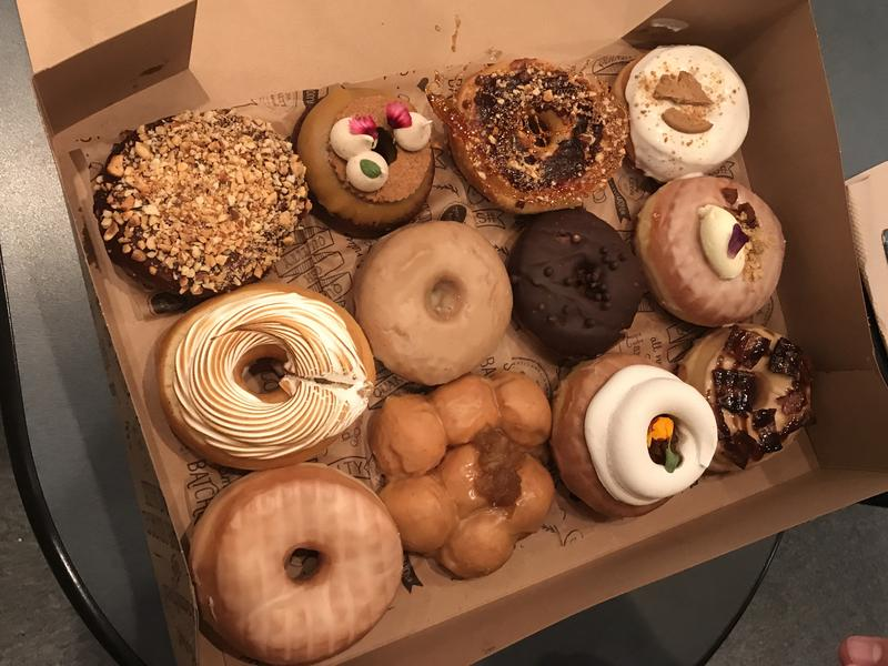 The Salty Donut's variety tray of their different kinds of donuts available