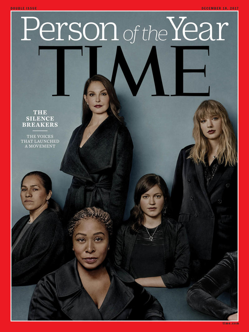 "Time magazine says the women who shared stories about sexual harassment and abuse through the #metoo campaign — the ""silence breakers"" — are its Person of the Year."