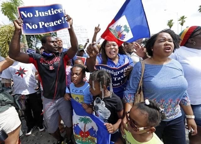 "Almost 60,000 Haitians Haitians living in the U.S. under ""temporary protected status"" face removal."