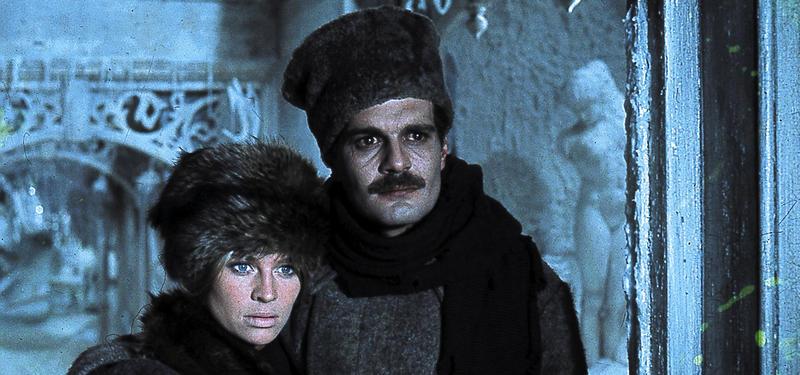 Omar Sharif plays Doctor Yuri Zhivago and Julie Christie plays his love interest Lara Guishar.