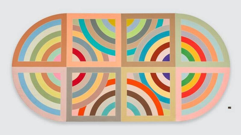 """Frank Stella's """"Hiraqla Variation II,"""" 1968. Magna on canavas. On display at NSU Museum of Art Fort Lauderdale through July 8, 2018. Jason Wyche . Courtesy of the Miam Herald."""