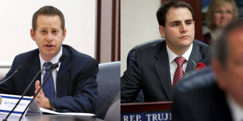 Rep. Jared Moskowitz (left), D-Coral Springs, is the ranking Democrat on the Florida House Appropriations Committee.  Rep. Carlos Trujillo (right), R-Doral, is the committee chairman.