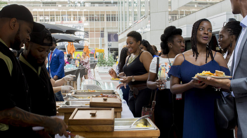 One of Saturday's events at Black Tech Week 2018 in Miami included a women's innovation brunch