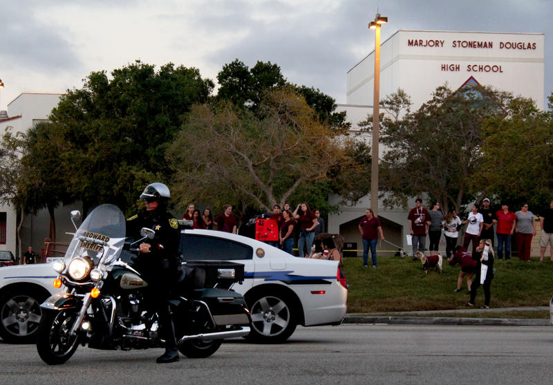 Students of Marjory Stoneman Douglas High School come back to school on Wednesday, February 28, for the first time since the shooting.