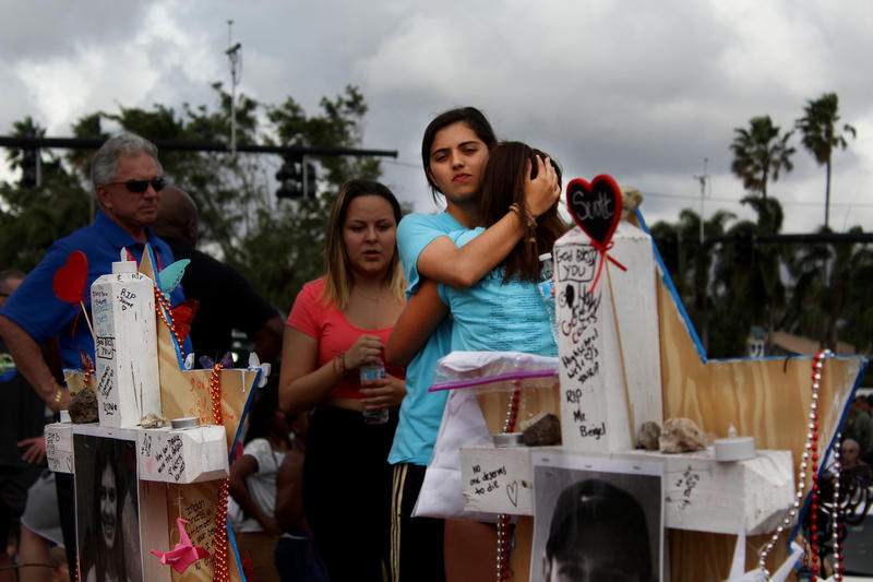 In the aftermath of the Feb. 14 mass shooting, members of the community visited improvised memorials for the 17 victims outside of Marjory Stoneman Douglas High.