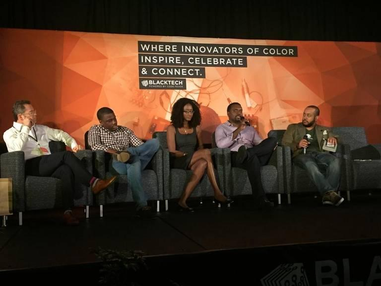 Andrew Goldner of GrowthX, Marcus Carey of Silicon Valley Bank, Birame Sock of Flyscan and VOO Media, Clarence Wooten of VentureFund.io and Michael Hall of Digital Grass share their Silicon Valley experiences at Blacktech Week.