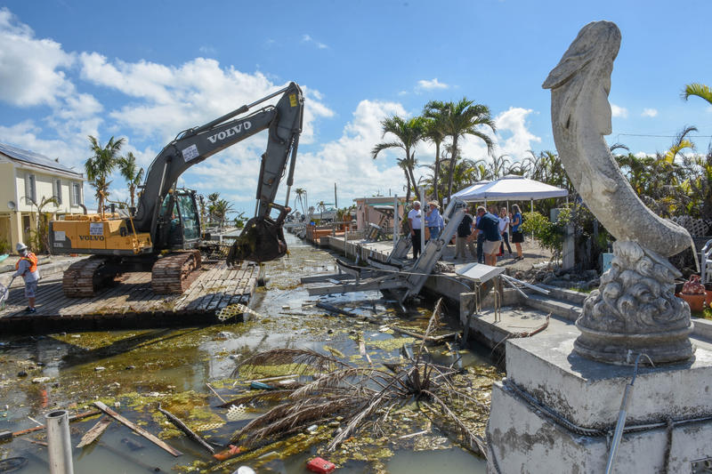 The first canal to be cleaned up was restored before the storm as a demonstration project for the rest of the county.