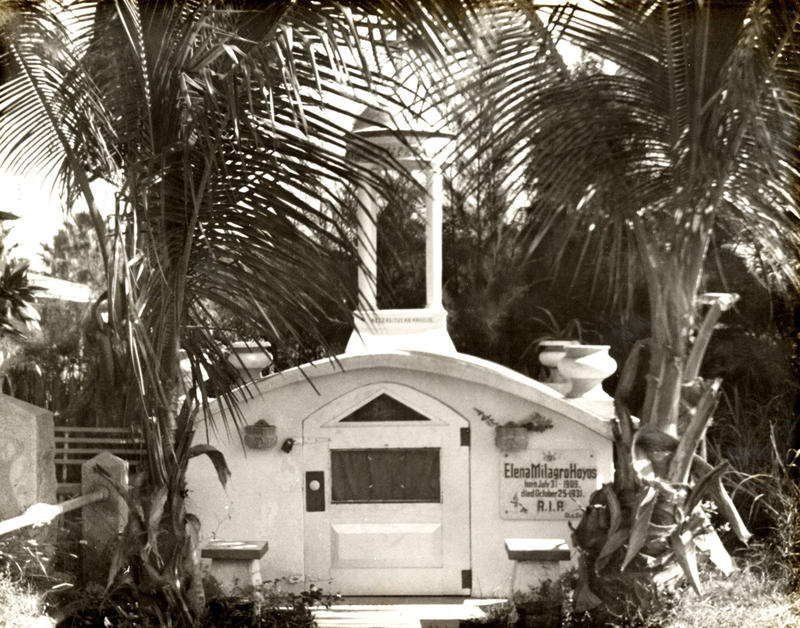 After Elena Hoyos died, von Cosel built a mausoleum for her in the Key West Cemetery.