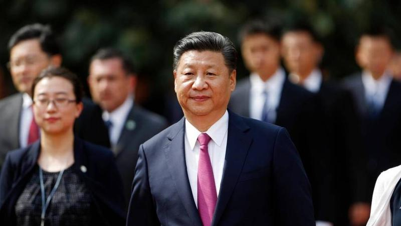 Chinese President Xi Jinping visiting Chile last November.