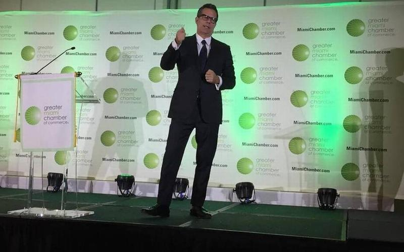 Urbanism expert and economist Richard Florida at the Greater Miami Chamber's Economic Summit in January 2016