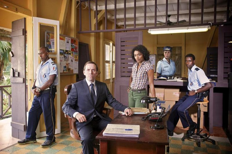 Ben Miller, Sara Martins and Danny John-Jules star in Death in Paradise