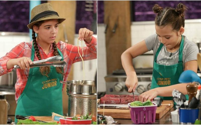 "Miami sisters Amelia and Catalina Frías on Food Network's ""Chopped Junior"""