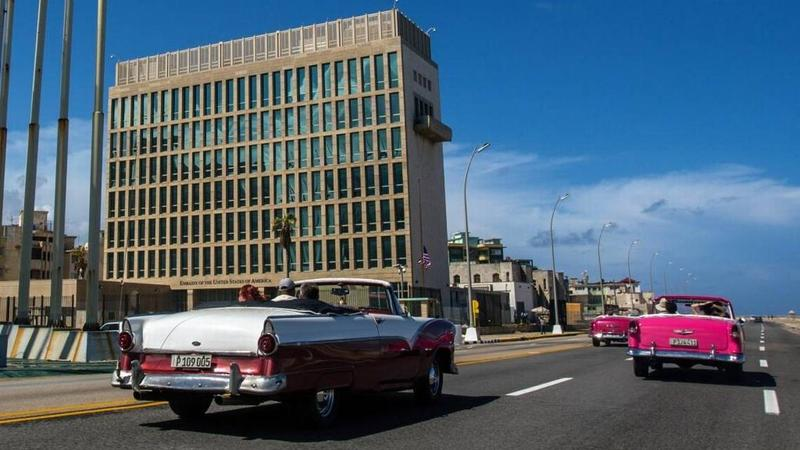 "The U.S. embassy in Havana, which will now operate as a ""minimum personnel"" post."