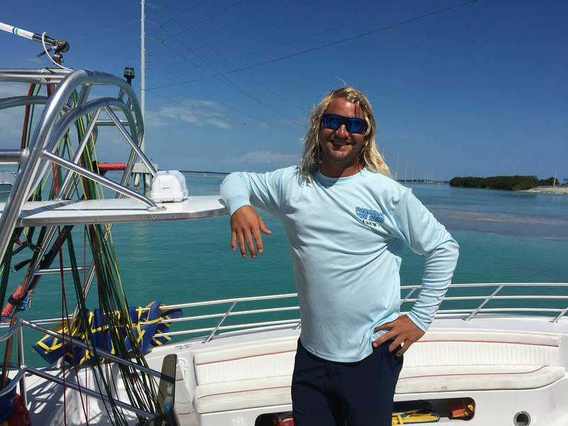 Capt. Will Winton of the Aw Chute, a parasailing vessel based at Robbie's Marina in Islamorada