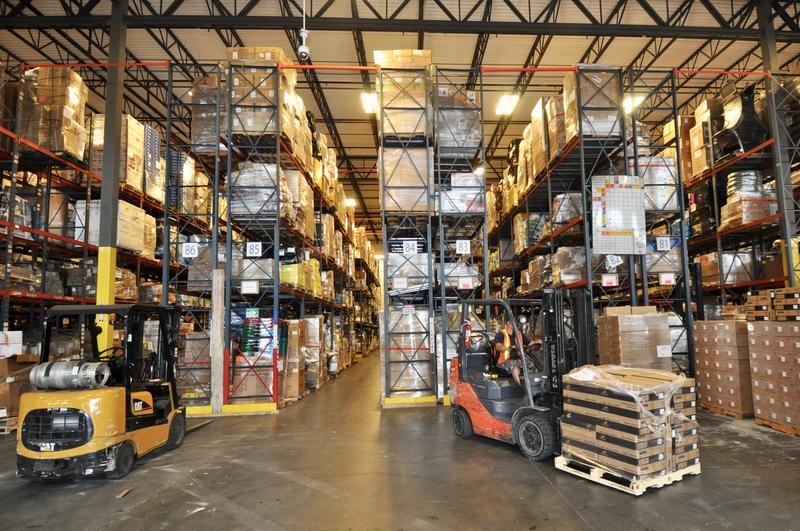 Thousands of imports and exports line the shelves at Interport Logistic's warehouse in Miami-Dade County.