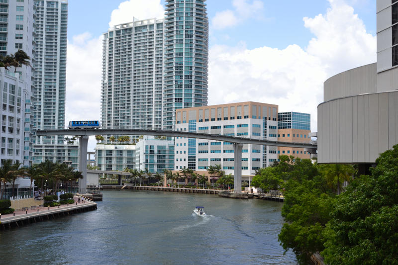 Restaurants and condos along the Miami River show the economic benefit of ongoing restoration efforts.