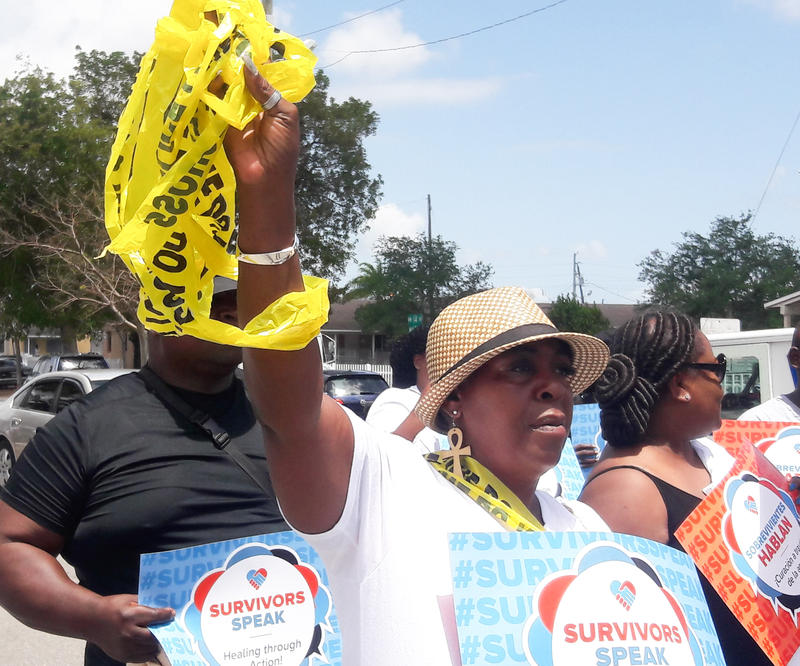 Survivors of gun violence gathered in Liberty City to tell their stories.