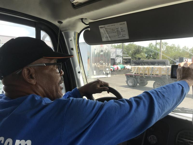 Adrien Stephen has been a truck driver in South Florida for almost 30 years. He's among users of a new app that aims to more efficiently connect shippers with trucking companies.
