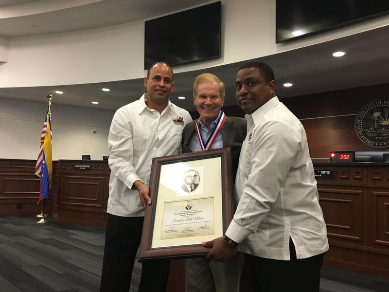 "Nelson was awarded the ""Rómulo Betancourt Proclamation."""