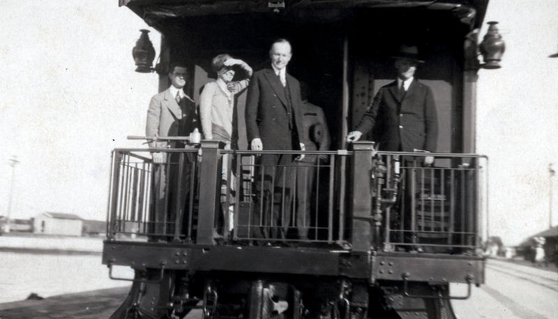 Calvin Coolidge was on his way back from a meeting in Cuba in 1928 when he stopped in Key West, then rode a train to the mainland.