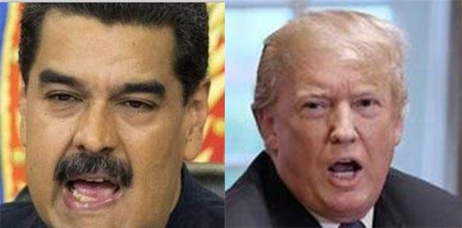 SUMMIT-LESS: Venezuelan President Nicolas Maduro (left) and U.S. President Donald Trump