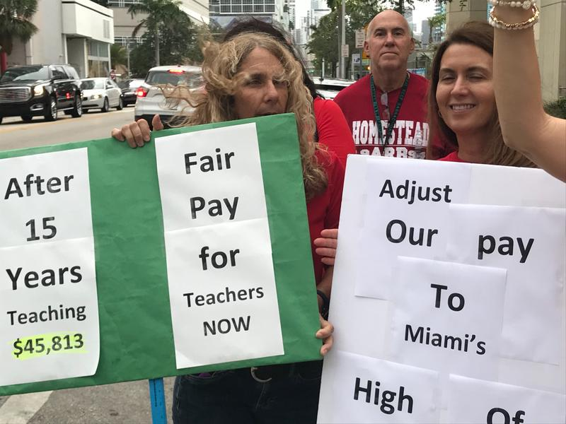 Teachers in Florida are among the lowest-paid in the nation.