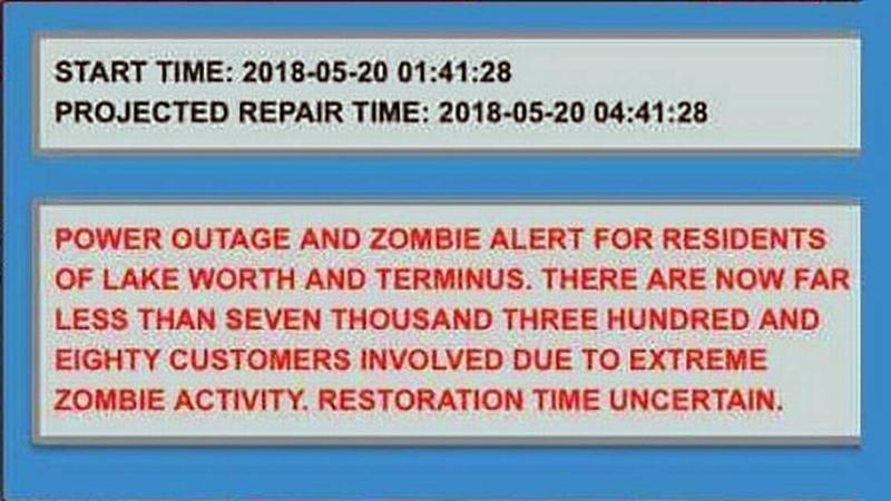 The warning that came to Lake Worth residents in Palm Beach County.