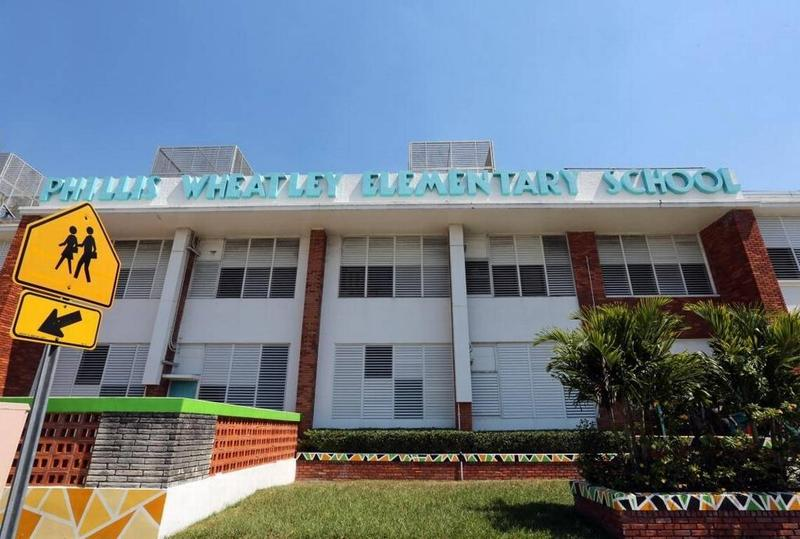 Phillis Wheatley Elementary School may get an affordable-housing apartment complex next door as part of a county plan to let teachers live on school property. Miami-Dade's teachers' union president balked at the plan.