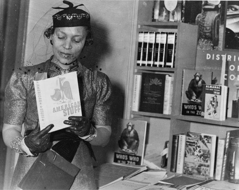 Author Zora Neale Hurston at the New York Times Book Fair in 1937.