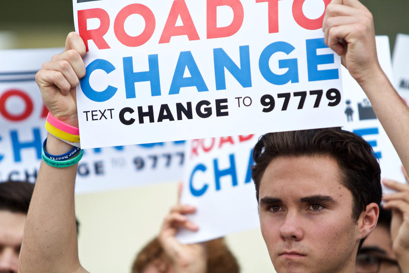 "March For Our Lives student activists anounce ""Road to Change"" tour at Parkland Amphitheater on June 4, 2018."