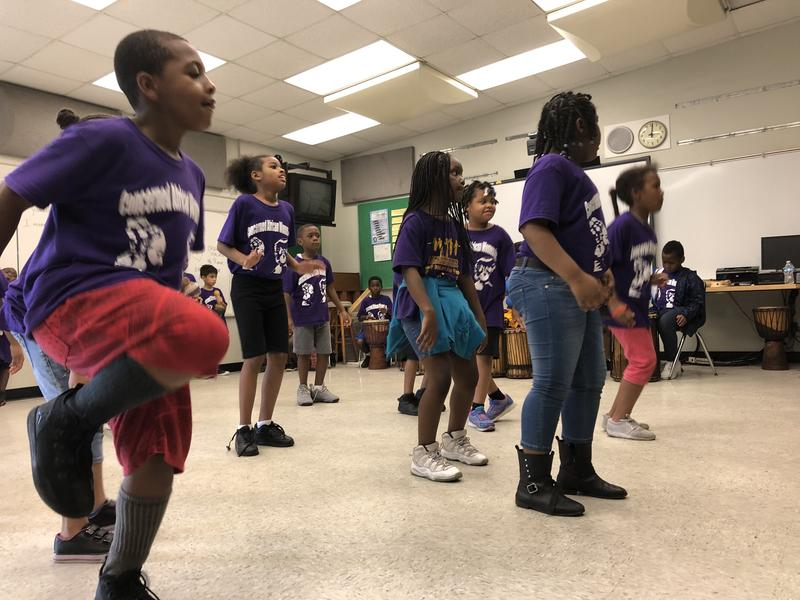 Young summer campers learn African dances like kuku and Manjani at a summer camp run by Concerned African Women at Miami Park Elementary School in West Little River, a neighborhood in northwest Miami.