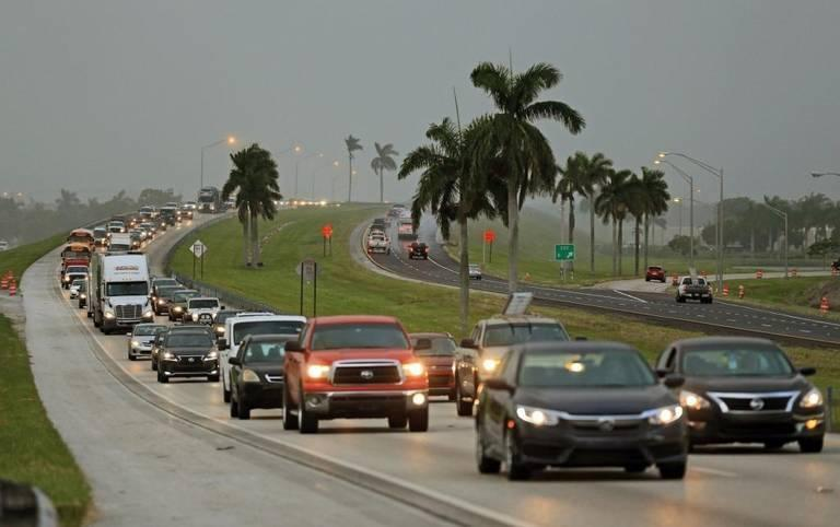 In September 2017, Floridians flooded the Turnpike trying to evacuate before Hurricane Irma.