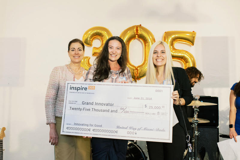Miami-Dade nonprofit finalist Code Art took home the grand innovator prize from the Inspire305 grant competition, sponsored by United Way of Miami-Dade on Thursday, June 21, 2018.