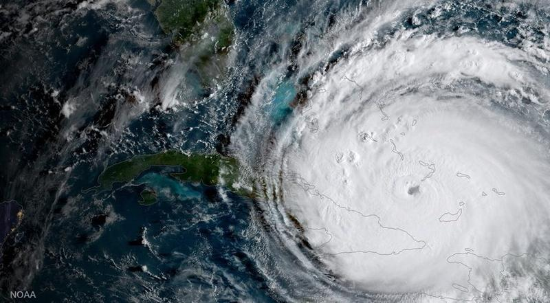 Satellite image of Hurricane Irma as it approached South Florida Sept. 8, 2017.