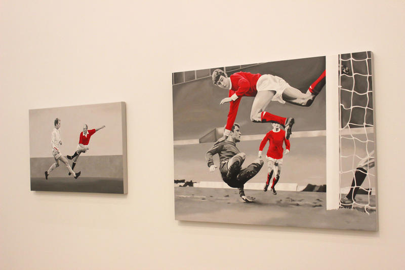 Soccer-related art at the Perez Art Museum.