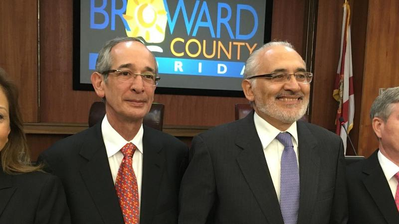 "Former Guatemalan President Alvaro Colom and former Bolivian President Carlos Mesa received ""Keys to Broward County"" last year."