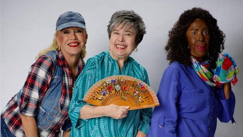 "Rosa Paseiro, Daisy Fontao and Marta Velasco in ""Tres viudas en un crucero."" The play had a blackface character until recently after a El Nuevo Herald report called out the production."
